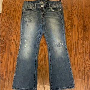 American Eagle distressed boot jean size 10S